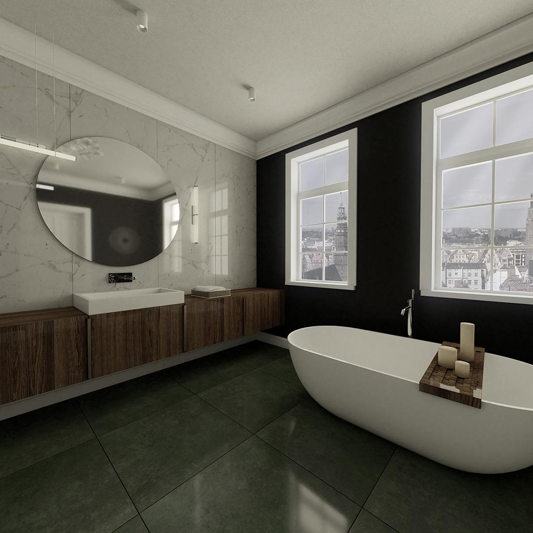 łazienka - połączenie klasyczności i nowoczesności