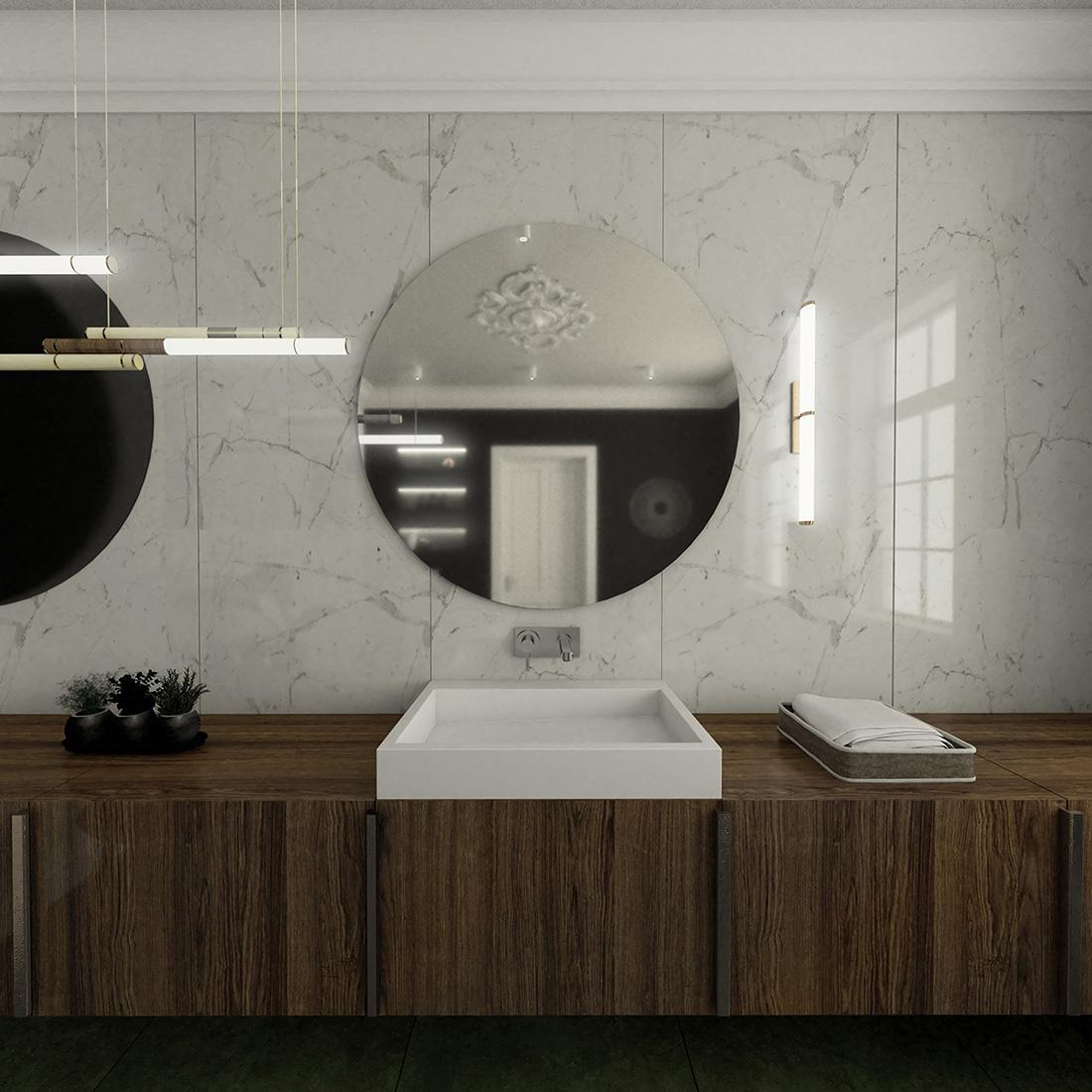 łazienka w kamienicy - klasyczna i nowoczesna