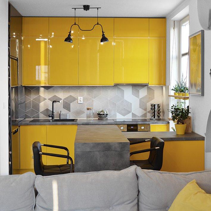 projekt aranżacji kuchni w mieszkaniu 70 metrów