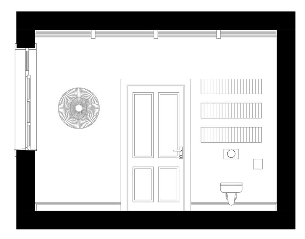 przekrój łazienki w mieszkaniu w kamienicy