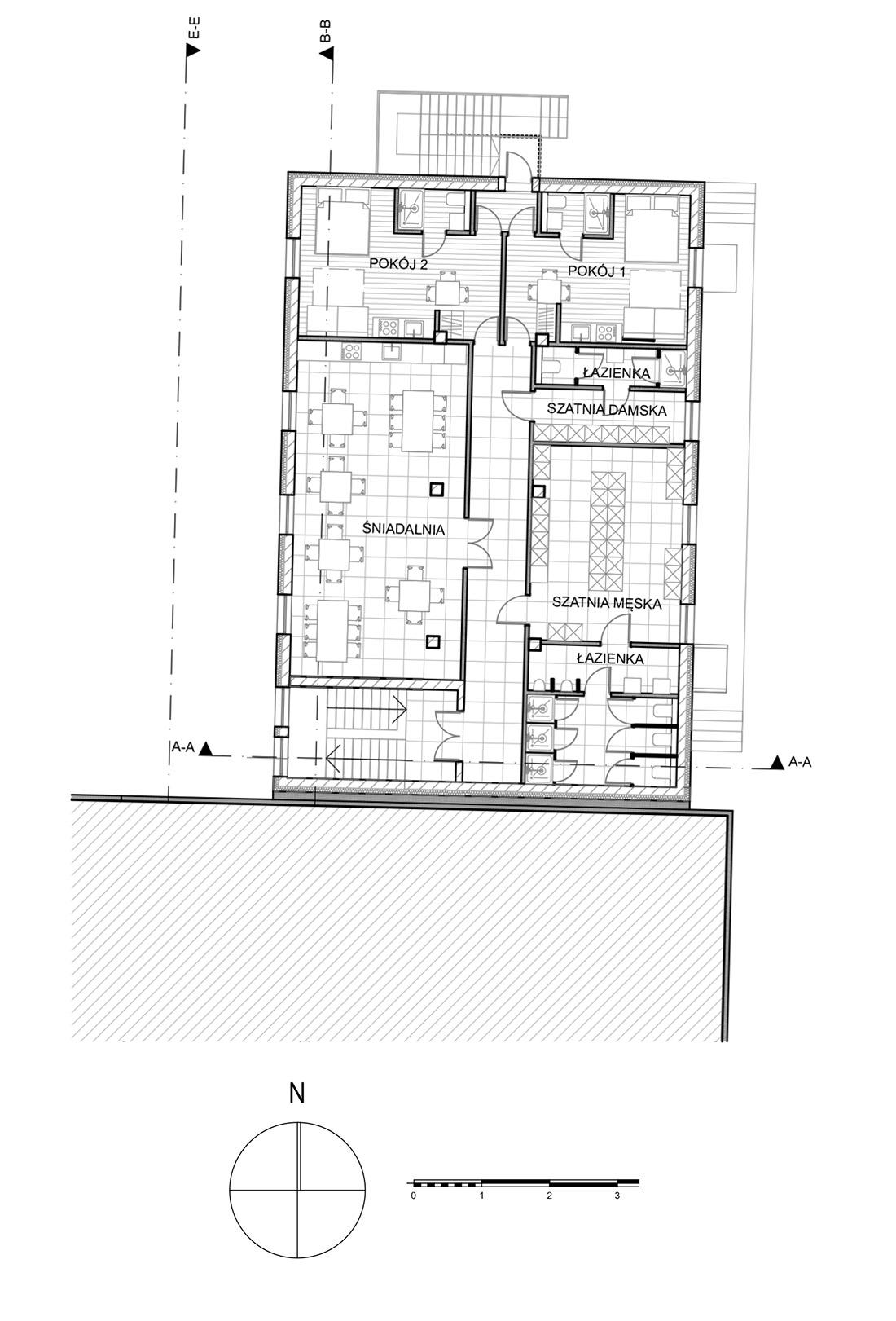4_Rzut 1 piętra hali magazynowej