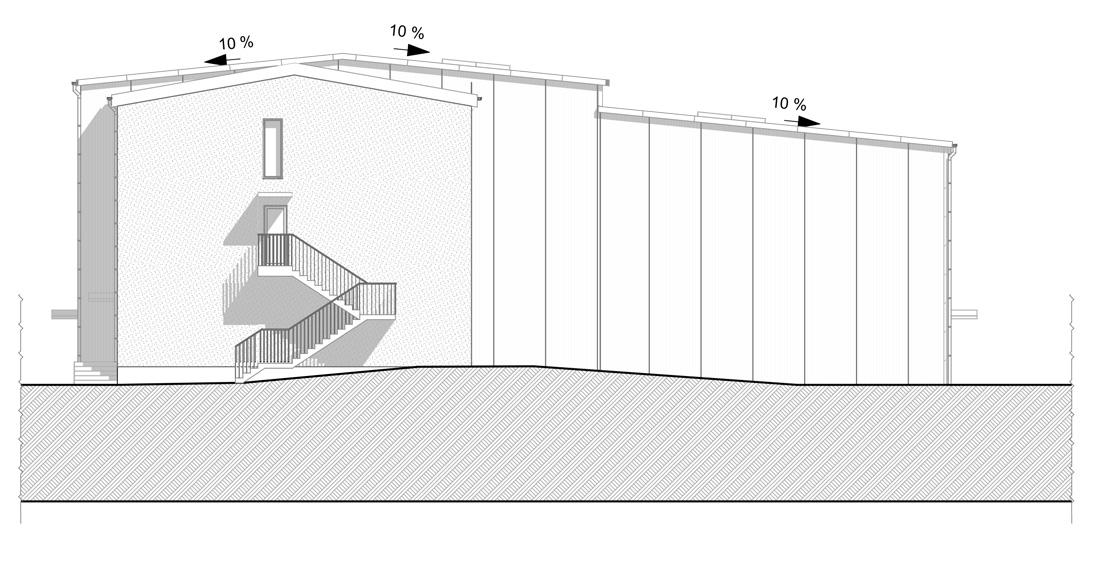 hala magazynowa o konstrukcji stalowej z dachem dwuspadowym