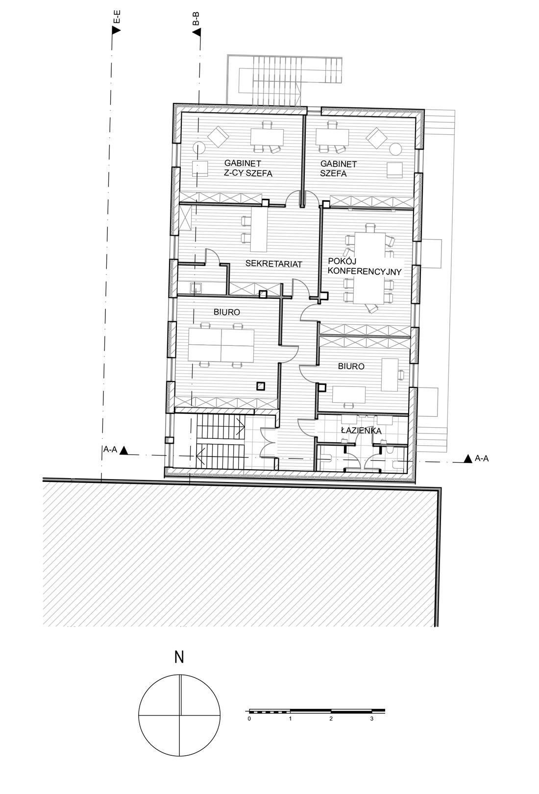 4_rzut 2 piętra hali magazynowej