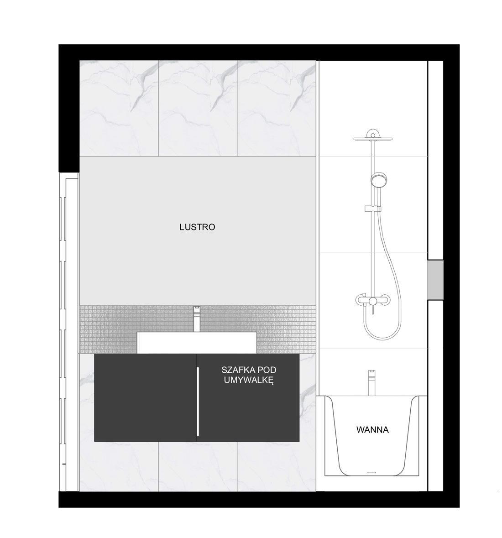 wystrój łazienki z marmurem elewacja 3