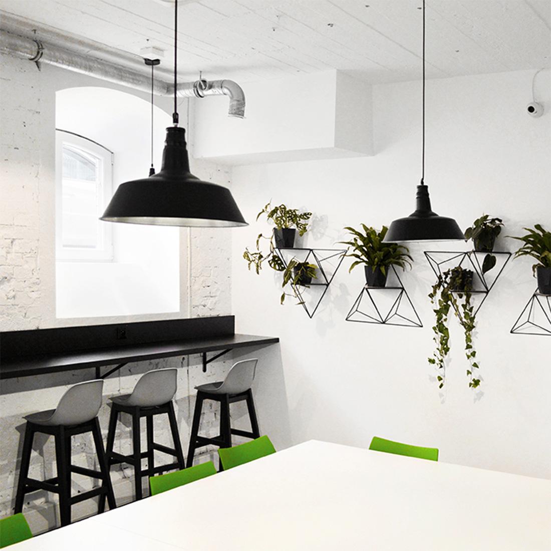 Projekt kawiarni biurowej strefa zielona