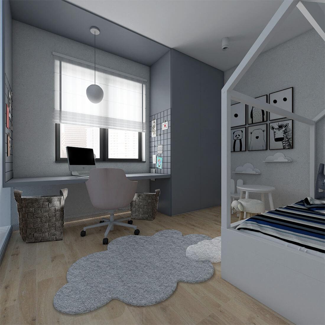 pokój dziecka w mieszkaniu 60m2
