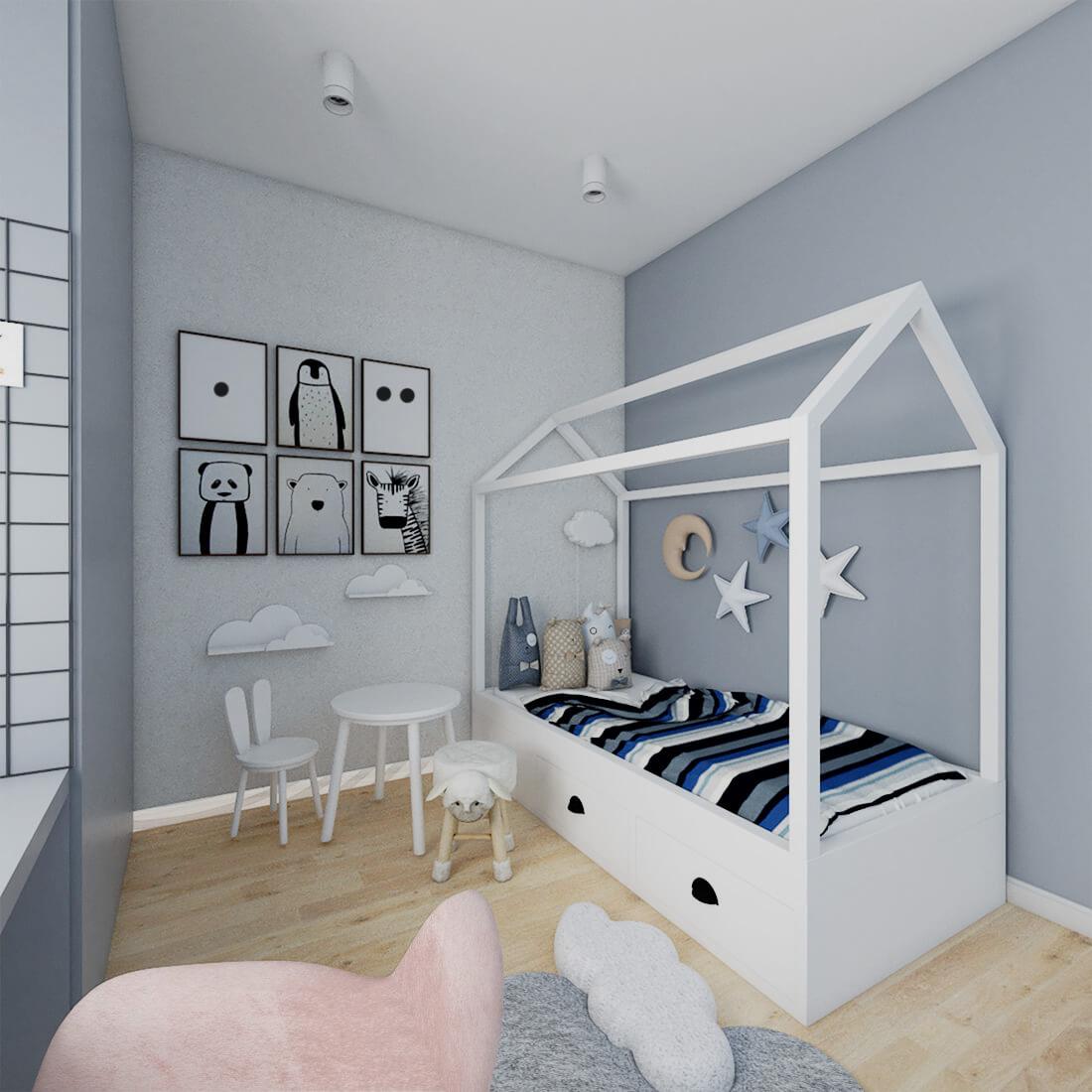 pokój dziecka w mieszkaniu w bloku