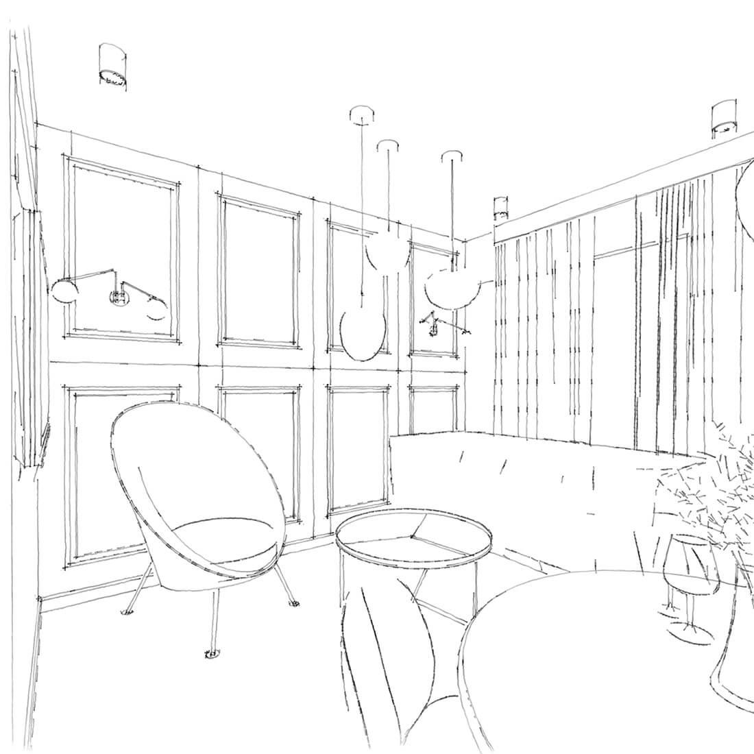 salon w mieszkaniu 60m2