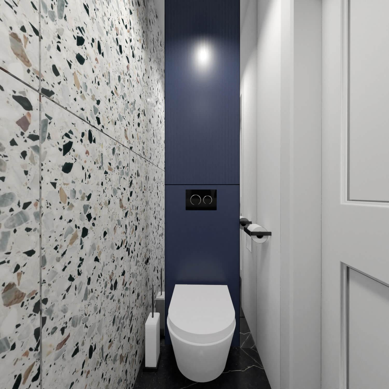 Zabudowa wc w małej łazience
