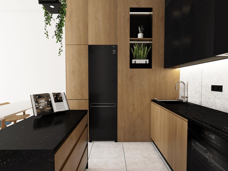 Wysoka zabudowa w małej kuchni