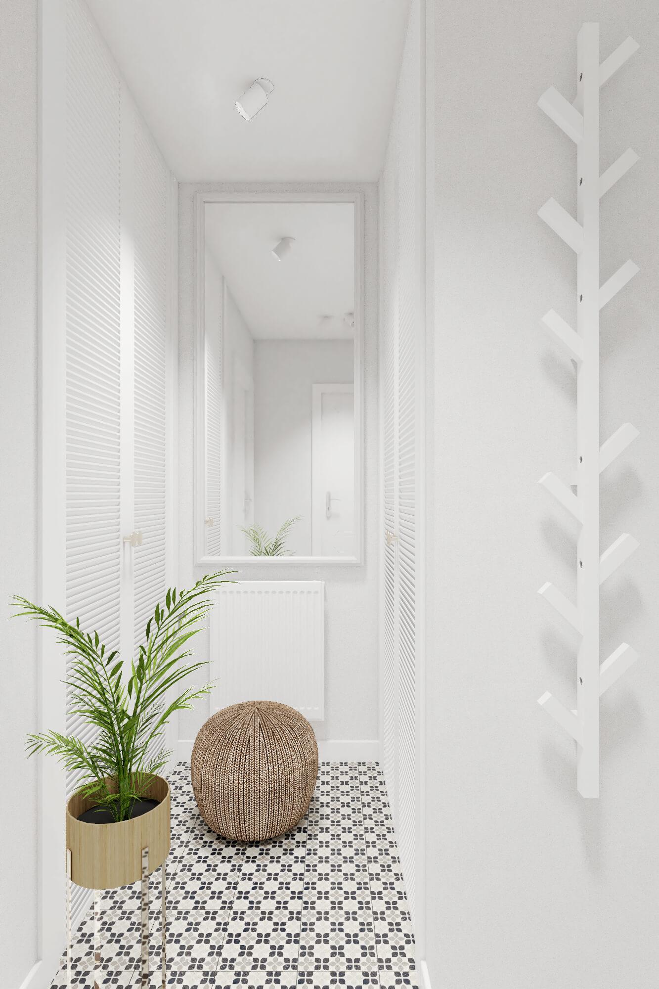 Lustro z IKEA w korytarzu