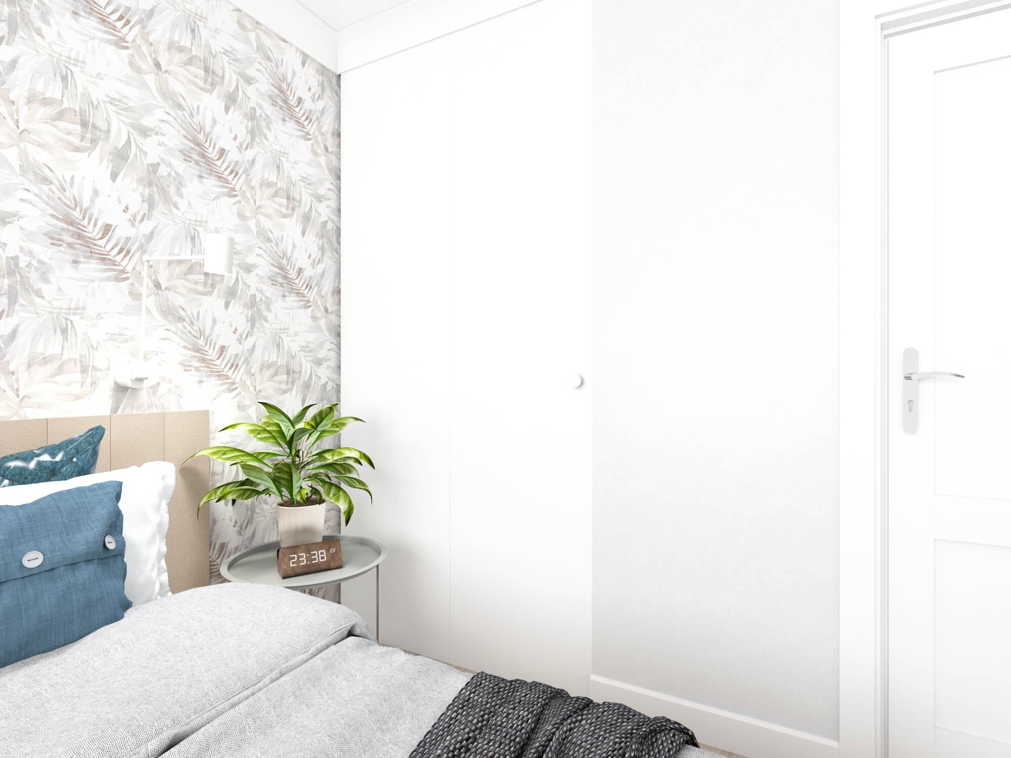 Drzwi do garderoby w sypialni